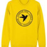 sudadera circulo hummingbird clothing amarillo dorado - negro
