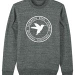 sudadera circulo hummingbird clothing gris mezcla - blanco