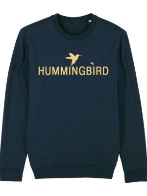 sudadera classic hummingbird clothing azul marino - crema