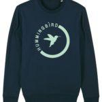 sudadera semiluna hummingbirdclothing azul marino - menta