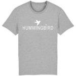 camiseta classic hummingbird clothing gris mezcla - blanco