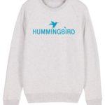 sudadera classic hummingbird clothing ash - azul cielo