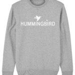 sudadera classic hummingbird clothing gris mezcla - blanco