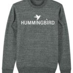 sudadera classic hummingbird clothing gris oscuro - blanco