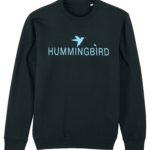 sudadera classic hummingbird clothing negro - azul palido