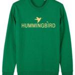 sudadera classic hummingbird clothing verde pradera - crema