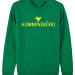 sudadera classic hummingbird clothing verde pradera - limon