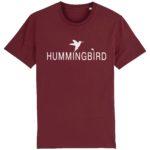 camiseta classic hummingbird burdeos - blanco