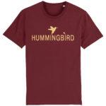 camiseta classic hummingbird burdeos - crema
