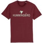 camiseta classic hummingbird burdeos - menta