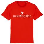 camiseta classic hummingbird clothing rojo - blanco