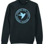 sudadera circulo hummingbird clothing negro - azul palido