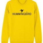 sudadera classic hummingbird clothing amarillo dorado - negro