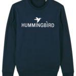 sudadera classic hummingbird clothing azul marino - blanco 2