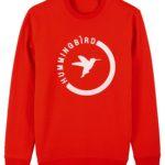 sudadera semiluna hummingbirdclothing rojo - blanco
